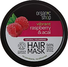 Parfémy, Parfumerie, kosmetika Maska na vlasy - Organic Shop Raspberry & Acai Hair Mask