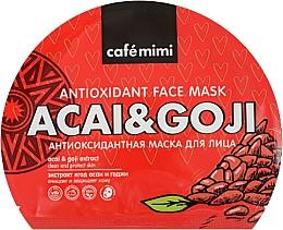 Parfémy, Parfumerie, kosmetika Antioxidační látková pleťová maska - Cafe Mimi Antioxidant Fase Mask Acai & Goji