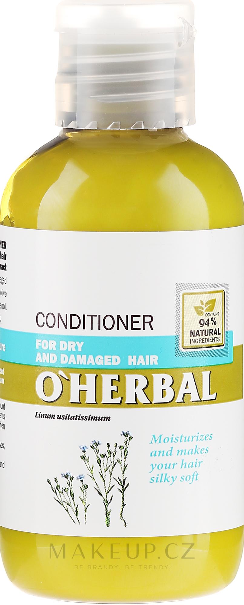 Balzám-kondicionér pro suché a matné vlasy s lněným extraktem - O'Herbal — foto 75 ml