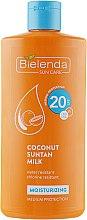 Parfémy, Parfumerie, kosmetika Hydratační mléko na opalování SPF 20 s kokosem - Bielenda Bikini Moisturizing Suntan Milk Medium Protection
