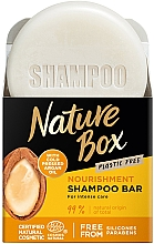 Parfémy, Parfumerie, kosmetika Tuhý šampon pro výživu vlasů s arganovým olejem - Nature Box Nourishment Vegan Shampoo Bar With Cold Pressed Argan Oil
