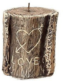 Aromatická svíčka, 11,5x13 cm., hnědá - Artman Stump Valentin — foto N1