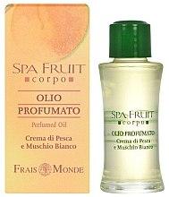 Parfémy, Parfumerie, kosmetika Frais Monde Spa Fruit Peach And White Musk Perfumed Oil - Parfémový olej