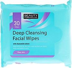Parfémy, Parfumerie, kosmetika Čistící ubrousky na obličej - Beauty Formulas Deep Cleansing Facial Wipes