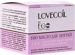 Parfémy, Parfumerie, kosmetika Bio-olej na nehty 3 v 1 - ECO Laboratorie Lovecoil Nail Care Bio-Oil 3 in 1