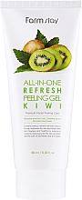 Parfémy, Parfumerie, kosmetika Peelingový gel krém na obličej s kiwi - FarmStay All-In-One Refresh Peeling Gel Kiwi