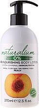 """Parfémy, Parfumerie, kosmetika Výživný tělový lotion """"Broskev"""" - Naturalium Body Lotion Peach"""