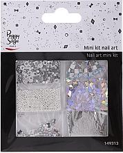 Parfémy, Parfumerie, kosmetika Sada na zdobení nehtů, 149313 - Peggy Sage Mini Kit Nail Art Argent (6ks)