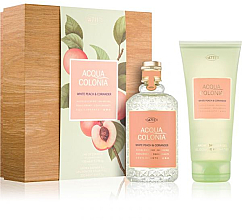 Parfémy, Parfumerie, kosmetika Maurer & Wirtz 4711 Aqua Colognia White Peach & Coriander - Sada (col 170ml +sh/gel/200ml)