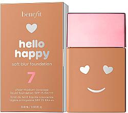 Parfémy, Parfumerie, kosmetika Tónovací krém s lesklým účinkem - Benefit Hello Happy Soft Blur Foundation