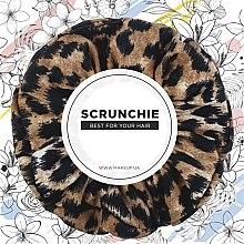 "Parfémy, Parfumerie, kosmetika Gumička na vlasy úplet, leopard zrzavý ""Knit Fashion Classic"" - MakeUp Hair Accessories"