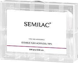 Parfémy, Parfumerie, kosmetika Tipy k prodloužení nehtu - Semilac Double Flex Acrylgel Dual Tips