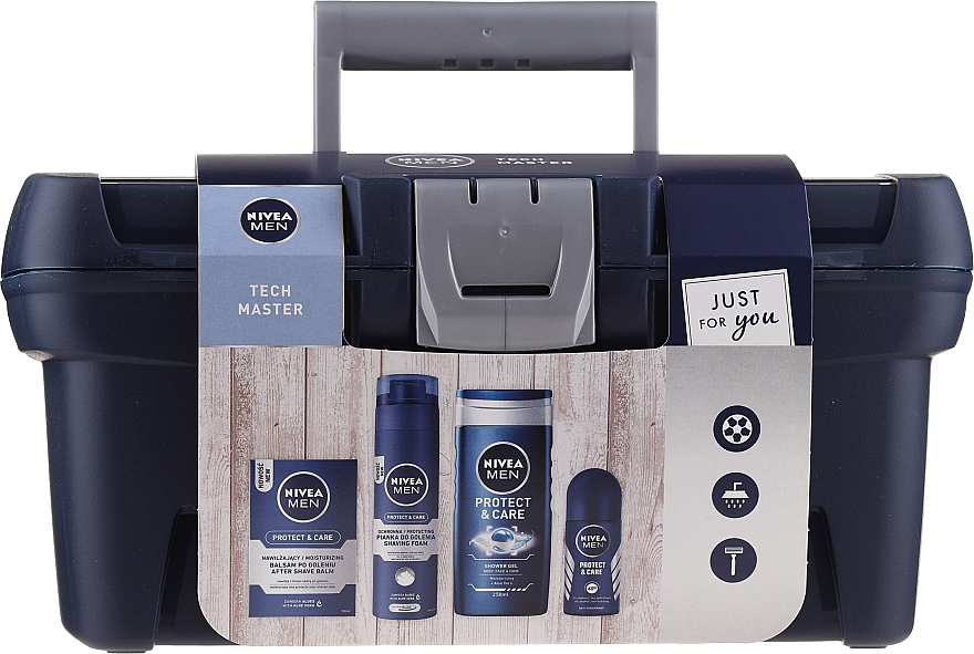 Sada - Nivea Men Tech Master (af/sh/balm/100ml + foam/200ml + sh/gel/250ml + deo/50ml)