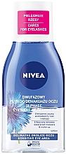 Parfémy, Parfumerie, kosmetika Dvoufázový odličovač Double Effect na citlivé oči - Nivea Visage Double Effect Eye Make-Up Remover