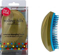 Parfémy, Parfumerie, kosmetika Kompaktní kartáč na vlasy, zlato - Rolling Hills Compact Detangling Brush Gold