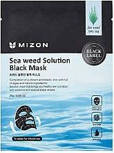Parfémy, Parfumerie, kosmetika Černá plátýnková pleťová maska s mořskými řasami - Mizon Seaweed Solution Black Mask