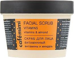 Parfémy, Parfumerie, kosmetika Vitamínový peeling pro obličej - Cafe Mimi Facial Scrub Vitamins
