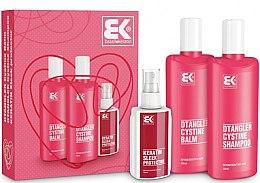Parfémy, Parfumerie, kosmetika Sada - Brazil Keratin Dtangler Cystine (sh/300ml + balm/300ml + spray/100ml)