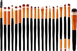 Parfémy, Parfumerie, kosmetika Sada profesionálních štětců na make-up (s plastovou rukojetí), 20ks, černo-zlatá - Lewer