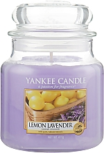 "Parfémy, Parfumerie, kosmetika Vonná svíčka ve sklenici "" Citron levandule "" - Yankee Candle Lemon Lavender"