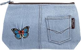 Parfémy, Parfumerie, kosmetika Kosmetická taštička Motifs, 94767, modrá s motýlem - Top Choice