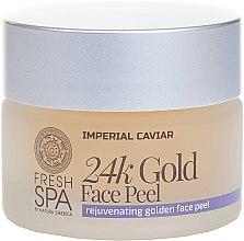 Parfémy, Parfumerie, kosmetika Zlatý peeling na obličej - Natura Siberica Fresh Spa Imperial Caviar Rejuvenating Golden Face Peel 24K Gold