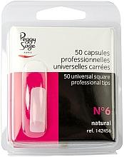 """Parfémy, Parfumerie, kosmetika Univerzální nehtové hranaté tipy """"№6"""", 50 ks - Peggy Sage Tips"""