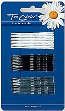 Parfémy, Parfumerie, kosmetika Sponka do vlasů 23729, černá, bílá a šedá - Top Choice