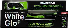 Parfémy, Parfumerie, kosmetika Sada - White Glo Charcoal Total Mouth Detox (toothpaste/150g + toothbrush)