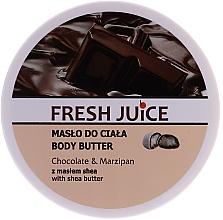 Parfémy, Parfumerie, kosmetika Tělový olej Čokoláda a marcipán - Fresh Juice Body Butter Chocolate & Marzipan With Shea Butter
