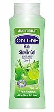 Parfémy, Parfumerie, kosmetika Sprchový gel-pěna - On Line Freshness Bath & Shower Gel