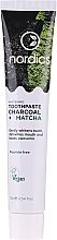 Parfémy, Parfumerie, kosmetika Bělící zubní pasta s uhlím a matčou - Nordics Whitening Charcoal Matcha Tooshpaste