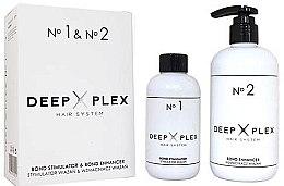 Parfémy, Parfumerie, kosmetika Systém ochrany a obnovy vlasů - Stapiz Deep Plex System No.1 & No.2 Set (hair/emulsion/150ml+hair/emulsion/290ml)
