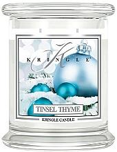 Parfémy, Parfumerie, kosmetika Vonná svíčka ve skle - Kringle Candle Tinsel Thyme