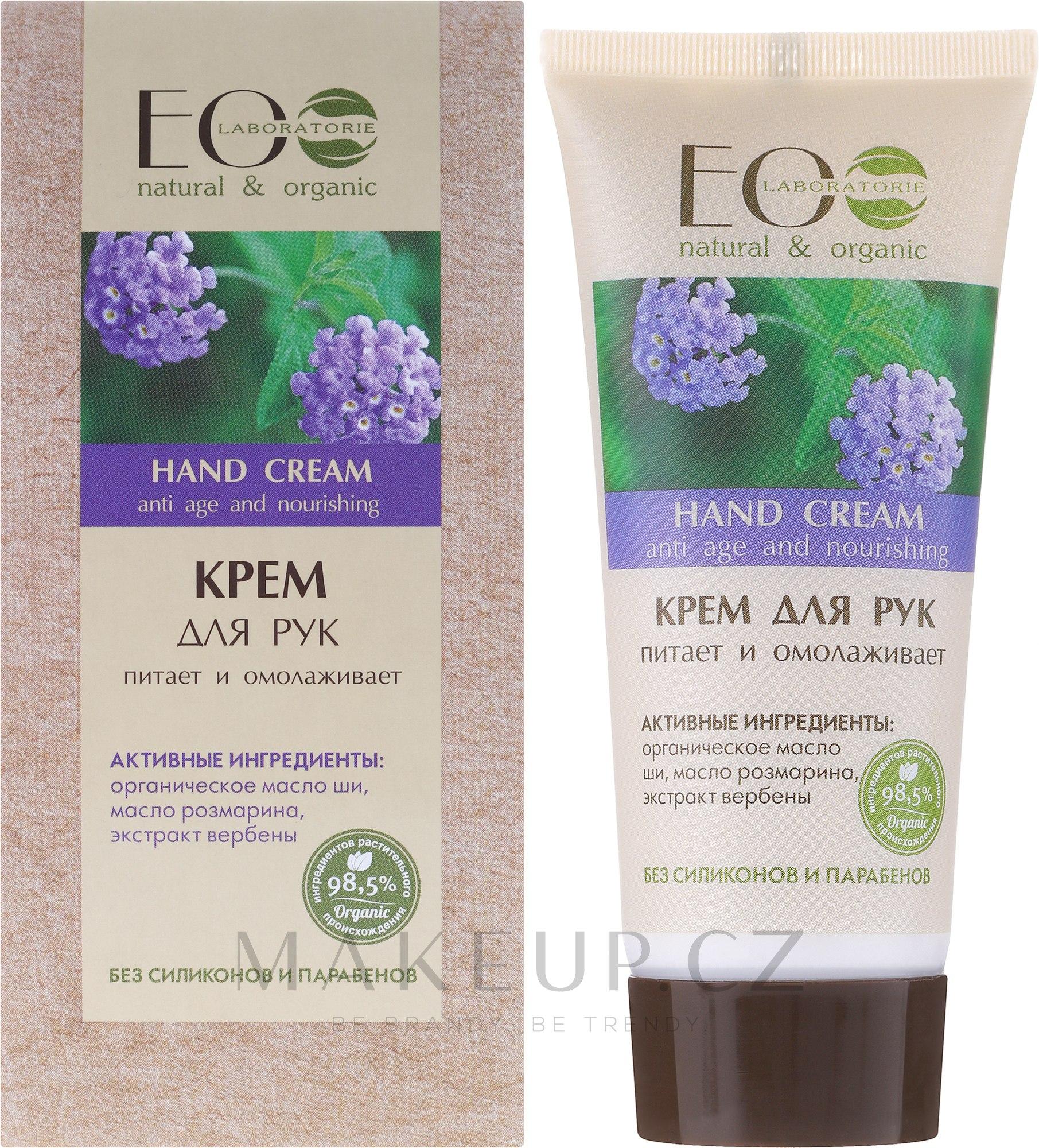 Výživný a omlazující krém na ruce - ECO Laboratorie Hand Cream — foto 100 ml