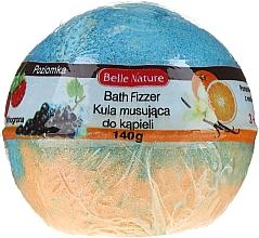 Parfémy, Parfumerie, kosmetika Šumivá koule do koupele, oranžově- modrá - Belle Nature Bath Fizzer