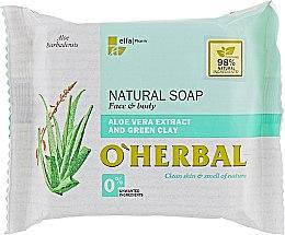 Parfémy, Parfumerie, kosmetika Přírodní mýdlo s extraktem aloe vera a zeleným jílem - O'Herbal Natural Soap