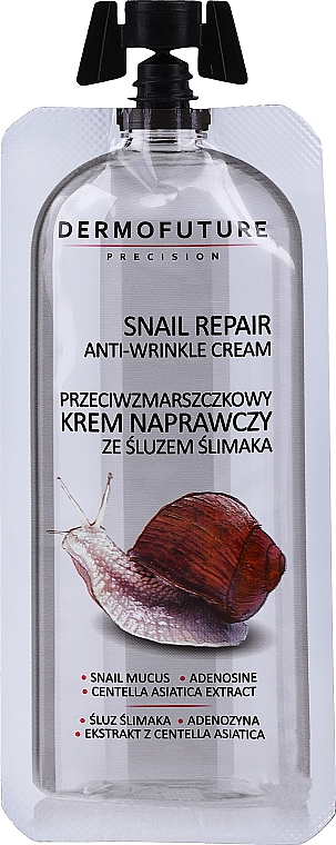 Krém proti vráskám s hlemýžďovým slizem - Dermofuture Snail Repair Anti-Wrinkle Cream