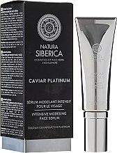 "Parfémy, Parfumerie, kosmetika Intenzivní modelovací sérum ""Proti hlubokým vráskám"" - Natura Siberica Caviar Platinum"