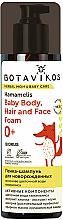 Parfémy, Parfumerie, kosmetika Pěna-šampon pro novorozence na bázi květinové vody Vilín - Botavikos Baby Body, Hair And Face Foam