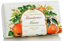 Parfémy, Parfumerie, kosmetika Mýdlo přírodní Mandarinka a máta - Saponificio Artigianale Fiorentino Tangerine & Mint Soap