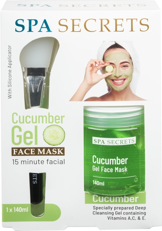 Sada - Spa Secrets Cucumber Gel Face Mask (mask/140ml + brush/mask/1pcs)