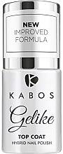 Parfémy, Parfumerie, kosmetika Hybridní vrchní lak na nehty - Kabos Gelike Top Coat Hybrid Nail Polish