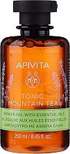 """Parfémy, Parfumerie, kosmetika Sprchový gel """"Horský čaj"""" s éterickými oleji - Apivita Tonic Mountain Tea Shower Gel with Essential Oils"""