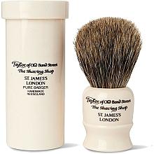 Parfémy, Parfumerie, kosmetika Holicí štětec, 8,5 cm, s cestovním pouzdrem - Taylor of Old Bond Street Shaving Brush Pure Badger