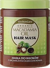 Parfémy, Parfumerie, kosmetika Maska na vlasy s organickým makadamovým olejem - GlySkinCare Macadamia Oil Hair Mask