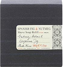 Parfémy, Parfumerie, kosmetika Bath House Spanish Fig and Nutmeg - Mýdlo na holení (náhradní náplň)