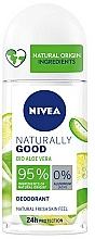 Parfémy, Parfumerie, kosmetika Kuličkový deodorant s aloe - Nivea Naturally Good Deodorant Roll-on Bio Aloe Vera