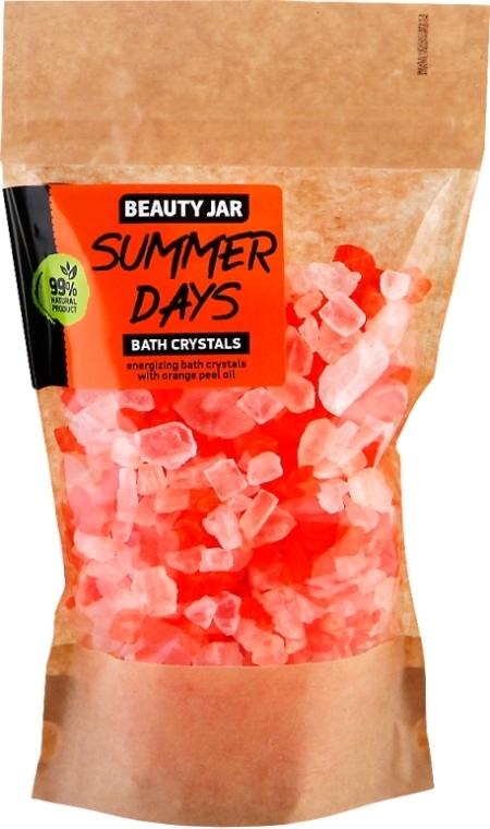 Tonizační krystaly do koupele a olejem pomerančové kůry - Beauty Jar Summer Days Energizing Bath Crystals with Orange Peel Oil