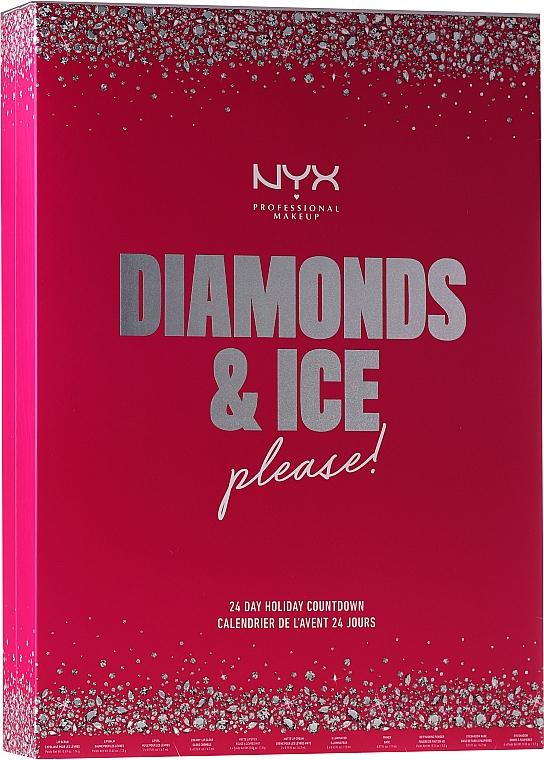 Sada Vánoční kalendář - NYX Professional Makeup Diamond & Ice Advent Calendar Makeup Set